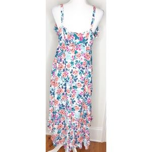 torrid Dresses - Torrid Floral High Low Ruffle Sleeveless Dress